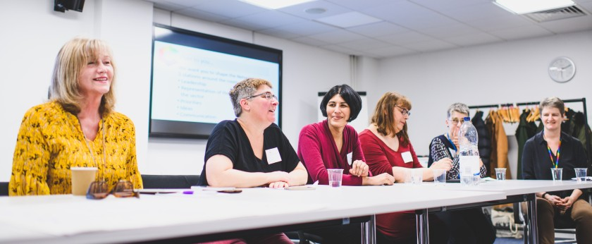 An image of the panel discussion at the Launch of the LGBT+ Sector Women's Network during LBT Women's Health Week 2019